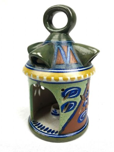 Gouda Pottery Lantern / Vase / Art Deco / Green / Blue / Orange / Rare